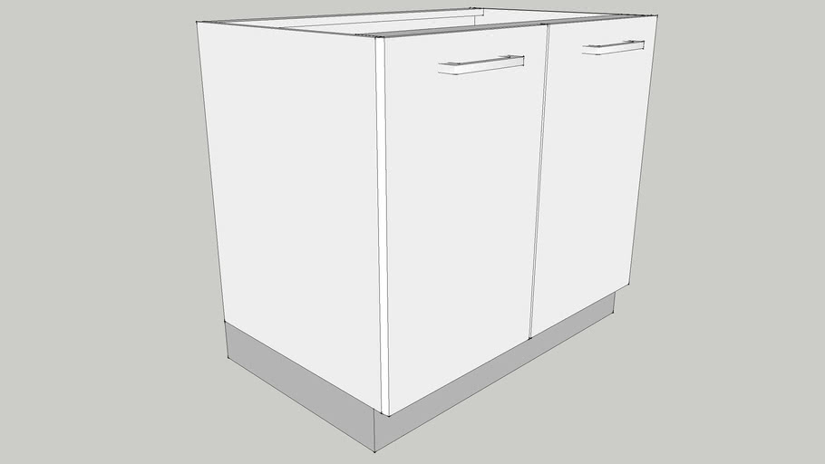 900 Base Sink Module with Two Shutters 900X560X700 CID_CP10000026