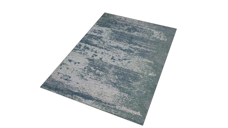 Feel Tapis Bleu Motifs Jacquard 160x230 Ref 178037 Prix 299 90