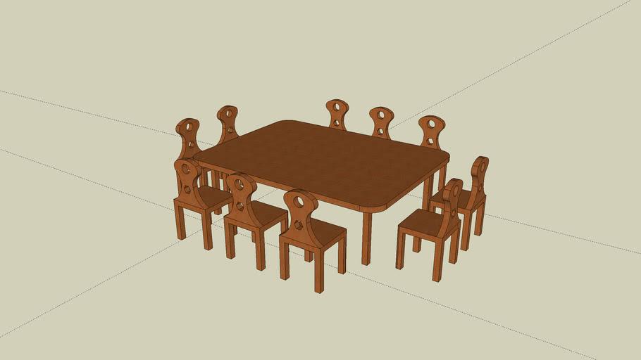 Eine Tischgruppe