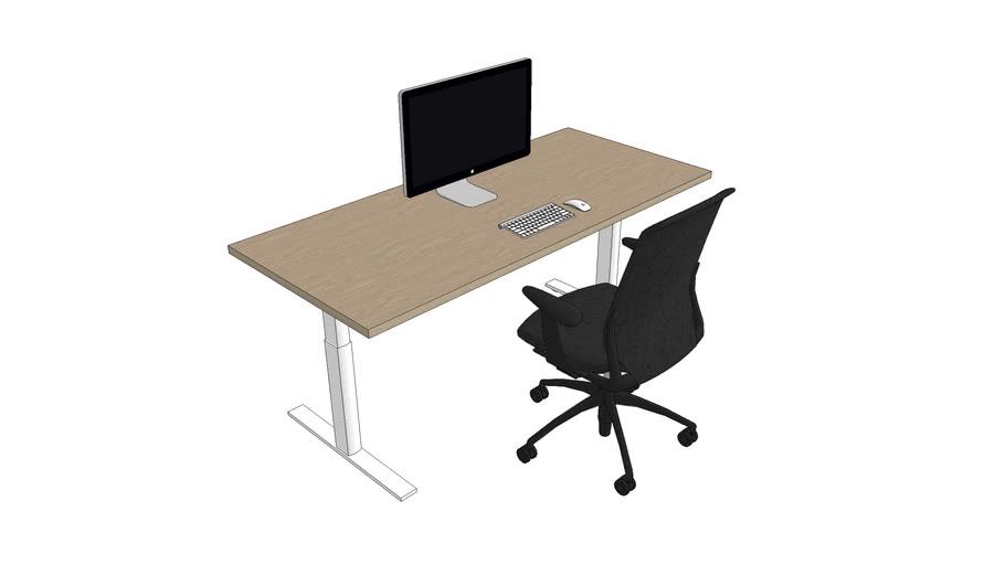 bureau enkele werkplek