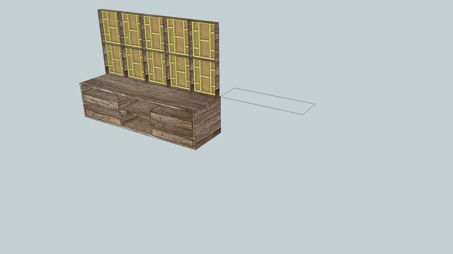 panel con mueble