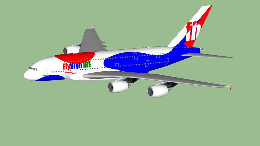 FlyHigh Airlines Ireland Airbus A380-800 'Superjumbo' livery