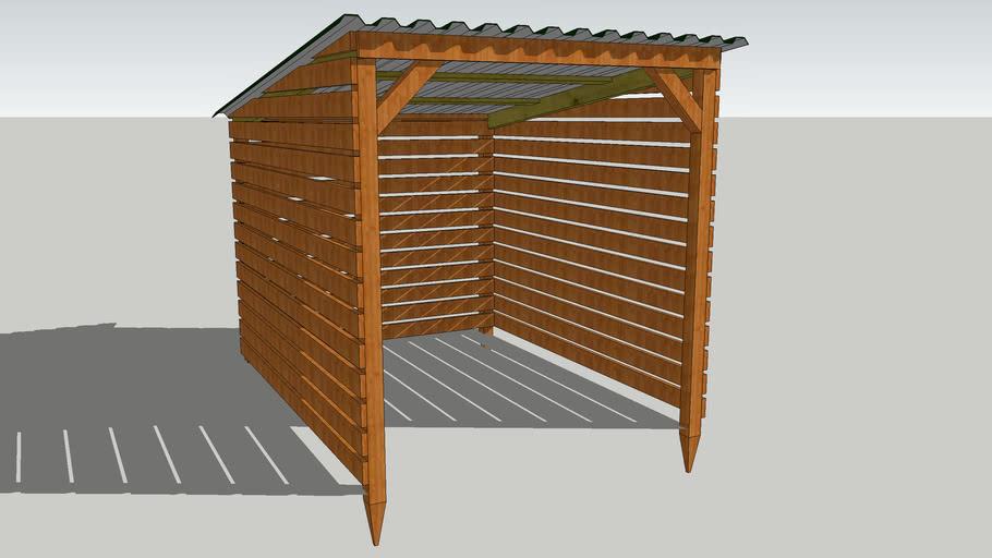 6ft x 8ft Woodshed/Log Store