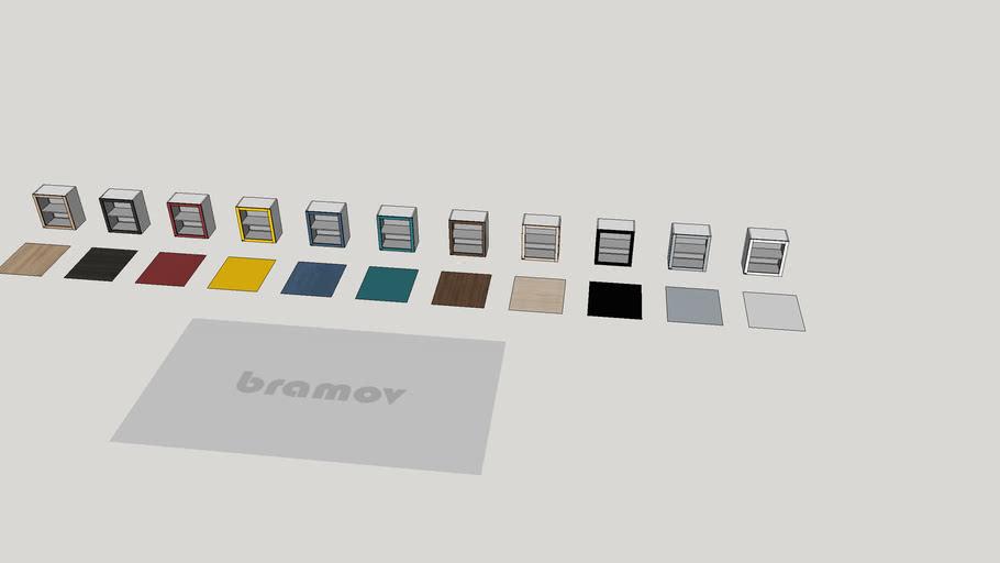 Módulo Superior com 1 Porta de vidro e 1 Prateleira Oma -  CSO012 - Bramov