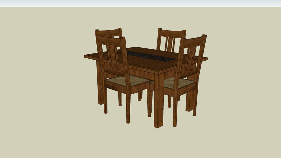 Wooden Table and Chairs - Hardwood