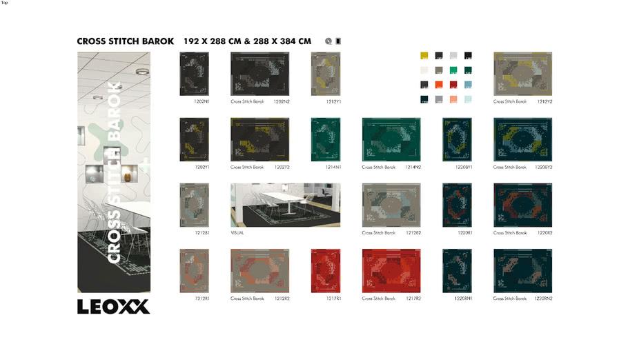 Explain Cross Stitch Barok - LEOXX Printcollectie