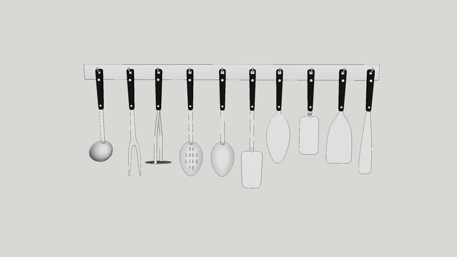 Wall bracket cutlery