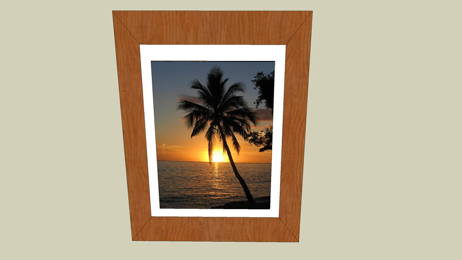 Painting of Palm Tree and Sunset