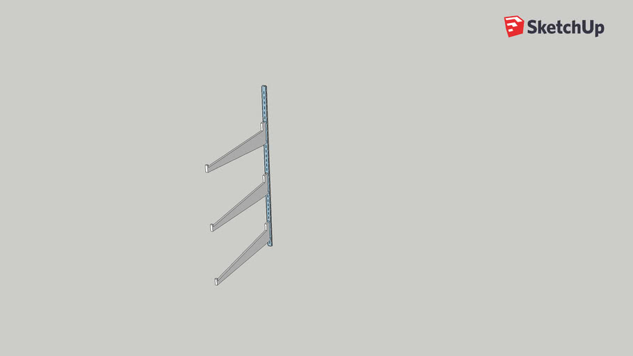 Prateleira com suporte 70cm - spartainox