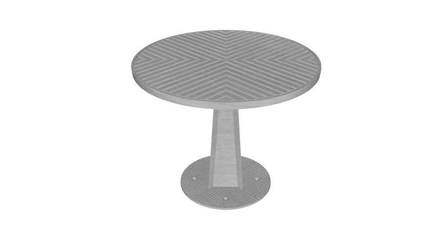Mesa Alma Redonda 90 Base Grande / Alma Round 90 Big Base Table / MXR-ALM-P-M06