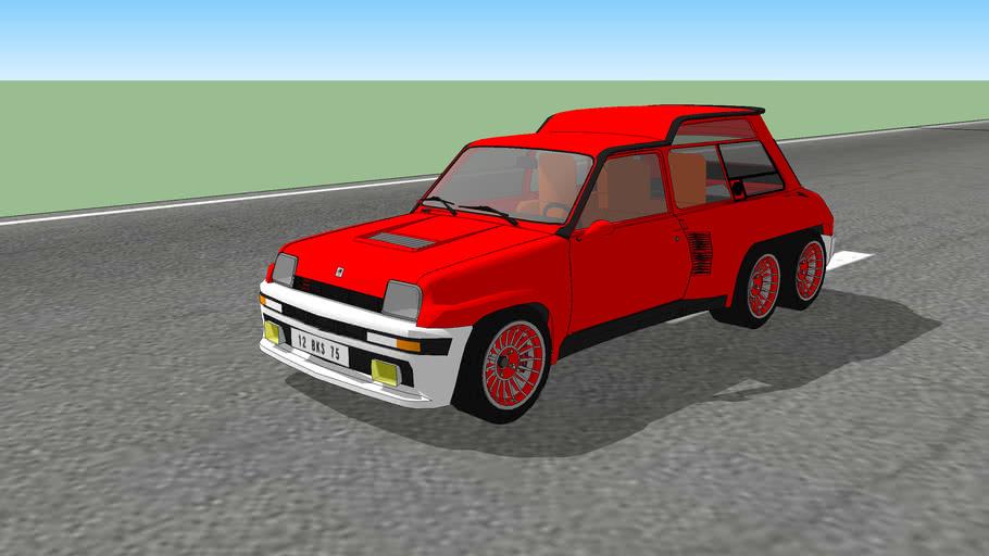 Renault 5 Turbo 6 roues de Léotard - 1987