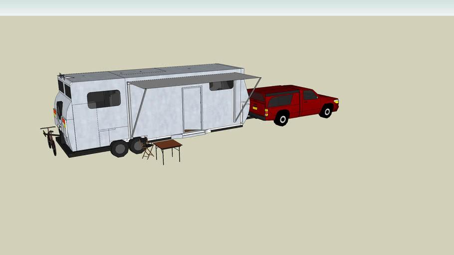 Caravan With Car