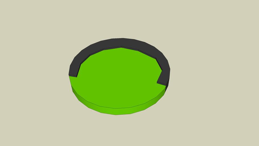 Round bed datz green nd blak