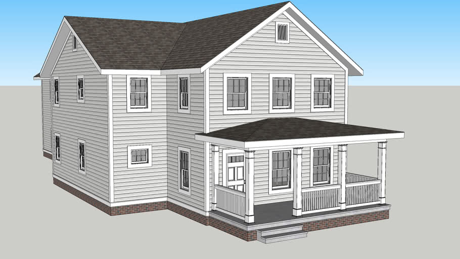 New urban gabled ell / folk Victorian house