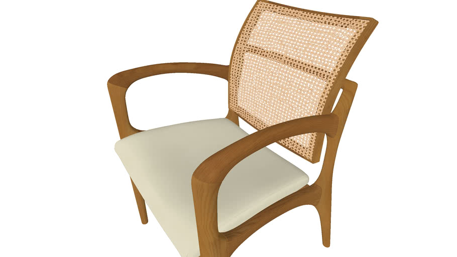 Cadeira madeira + Palhinha - Com braço