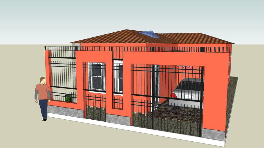 casa com telhado