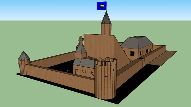 model zamku 2