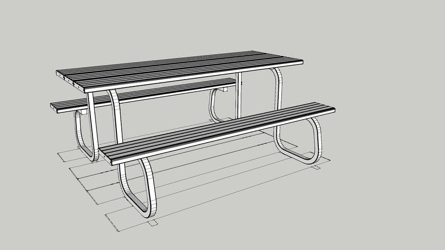 Metro 8 Seat Standard Table