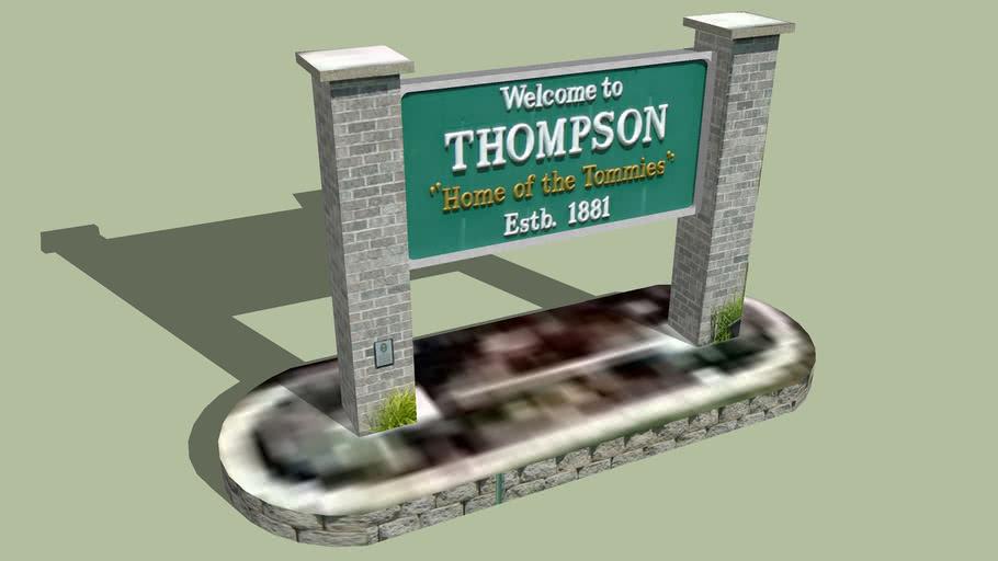 Welcome Sign Thompson, North Dakota