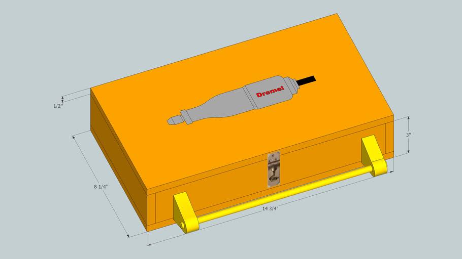 Dremel wood storage case