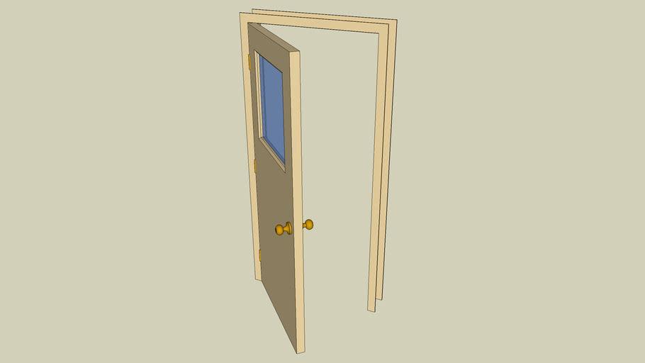 3068 Exterior Solid-core Door with Window
