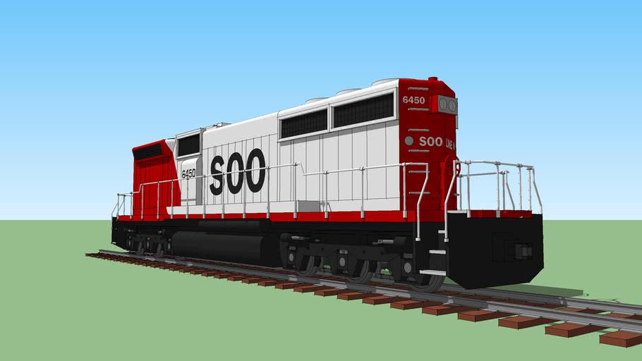 EMD SD40B SOO 6450 Locomotive