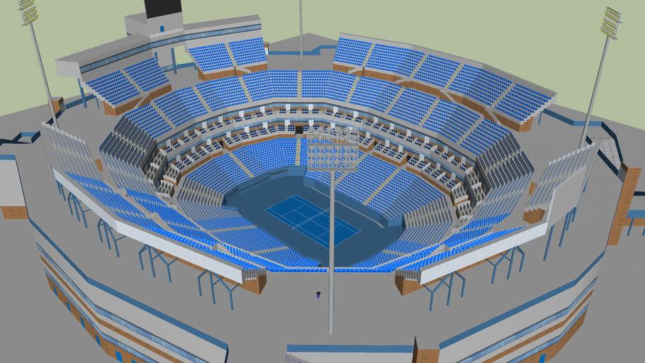 Detailed Tennis Stadium