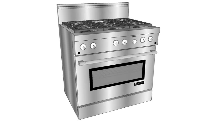 "PRD3630NP 36"" Pro-Style® Dual-Fuel Range with Convection"