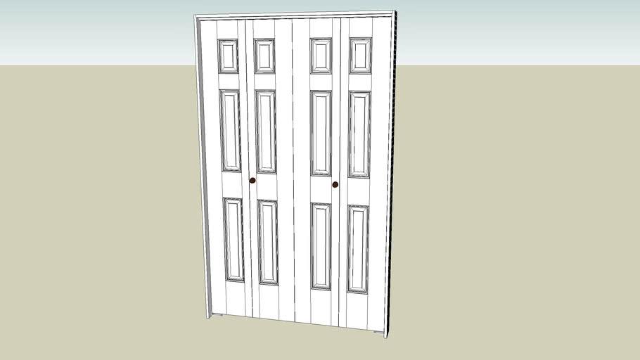 Bi-fold Door 78in x 48in - 6 Panel W/ 4.5in Frame & Hardware