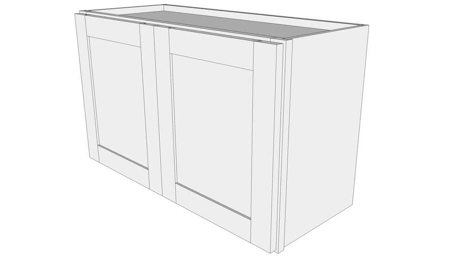 "Bayside Wall Cabinet W3018B - 12"" Deep, Butt Doors"