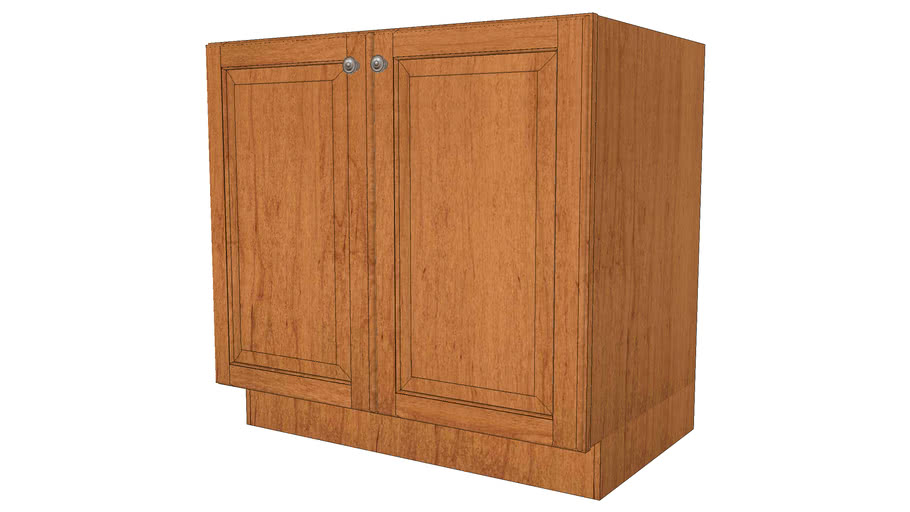 Base Cabinets - Marquette Square Full Maple Praline by KraftMaid® Cabinetry