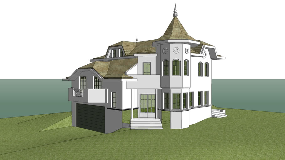 house castle look