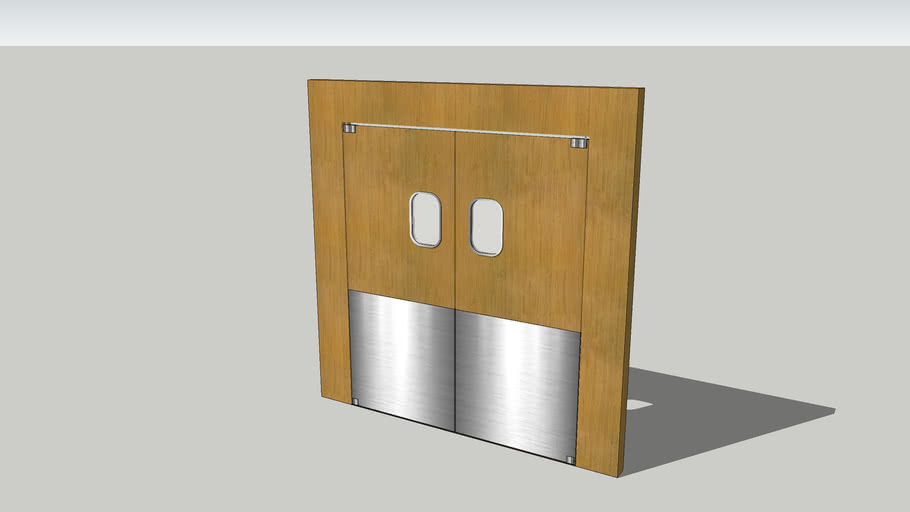 Restaurant kitchen doors. | 3D Warehouse