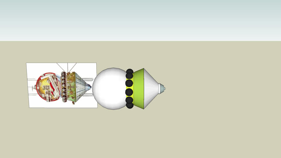 russian wostok rocket (without  details)