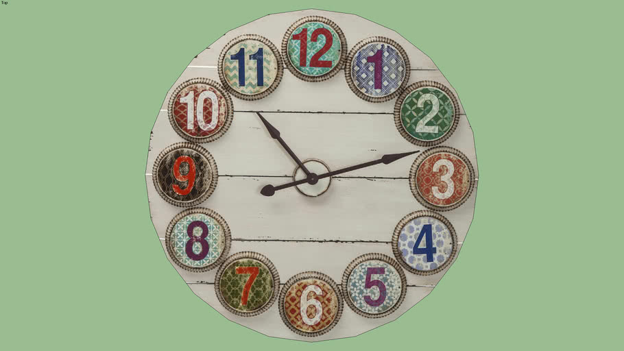 36923 Wall Clock Numbers Colore Ø100cm