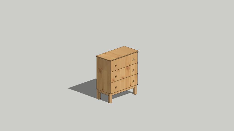 IKEA TARVA 3-drawer chest