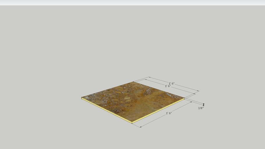Gold Tavertine Tumbled - 18 x 18