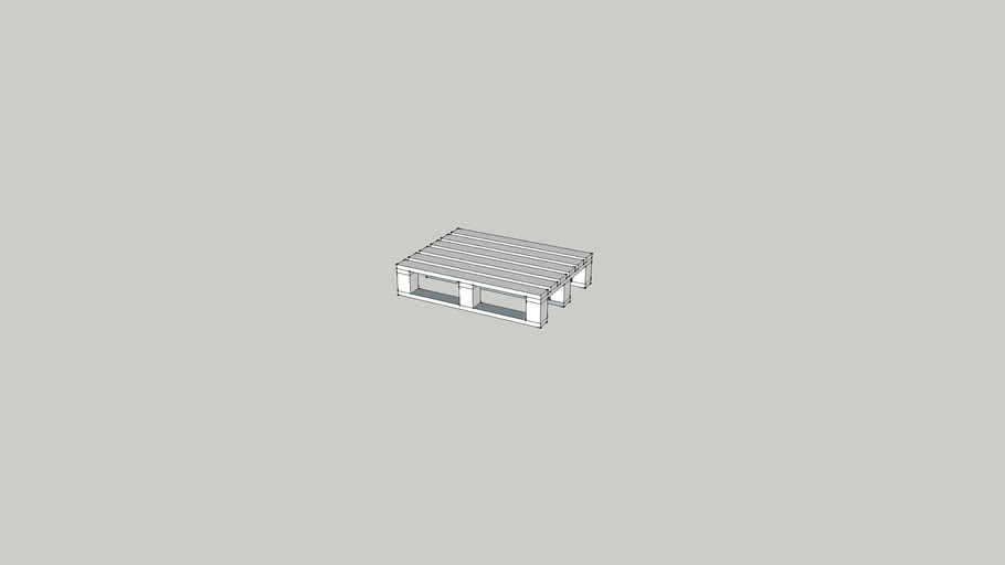 4 way entry gapped top pallet