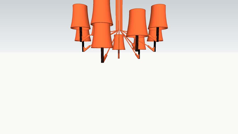 Pendente ceiling Birdie 9 lâmpadas - Foscarini