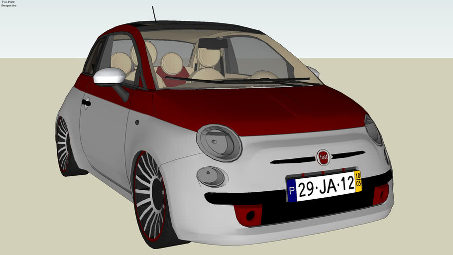 Fiat 500 Red-Silver Edition