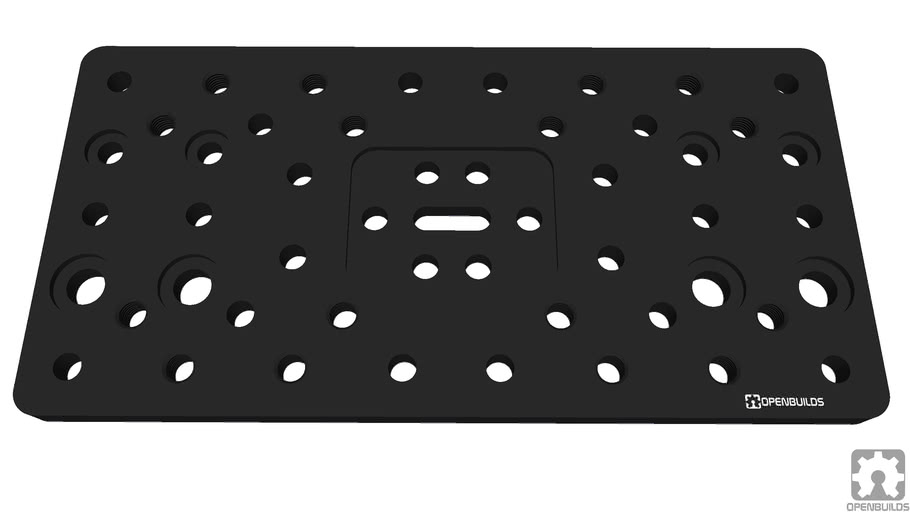OpenBuilds® C-Beam Gantry Plate Double Wide_1_0
