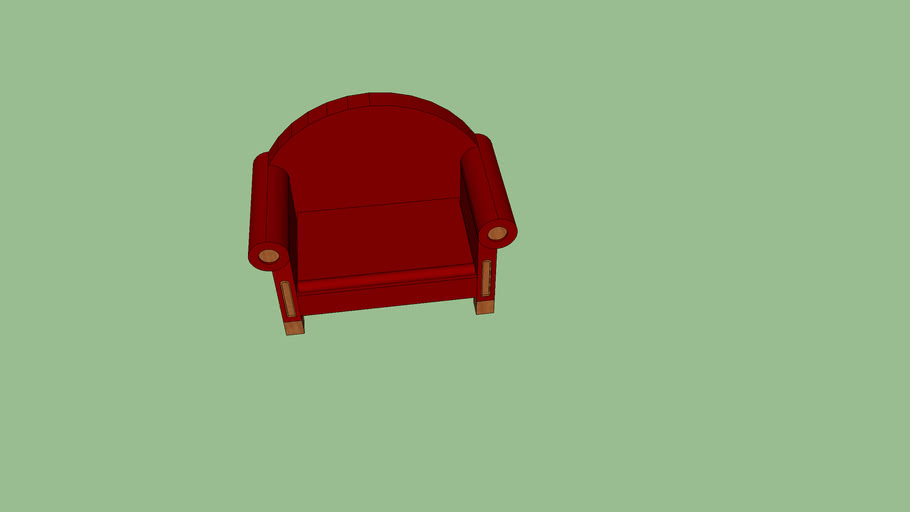 Red arm chair