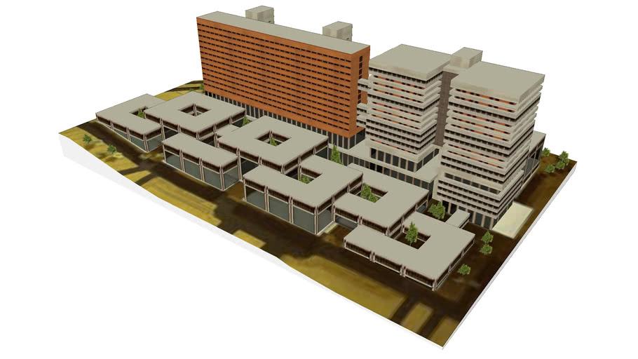 Edifici monobloc projectat el 1968.