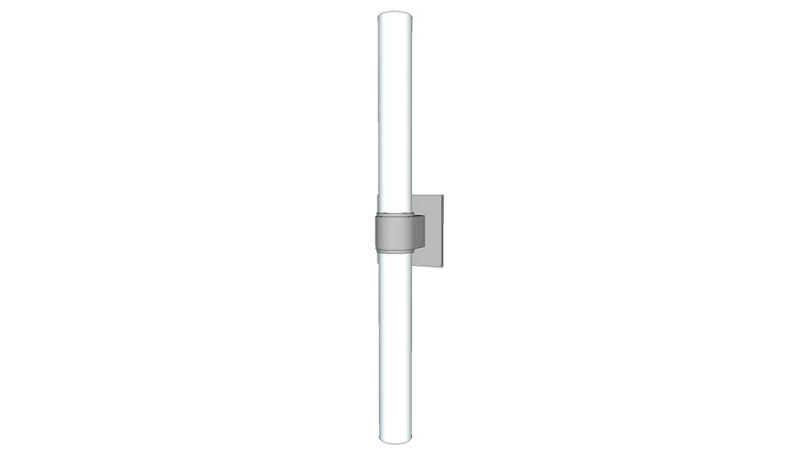 Opus Wall Mounted Double Arm Sconce with Cylinder Shade