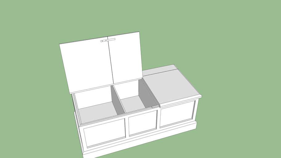 Combined cat box furniture