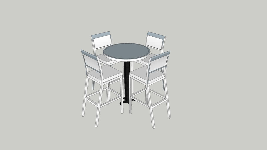 Bar Table With Stools 3d Warehouse, B & B Furniture