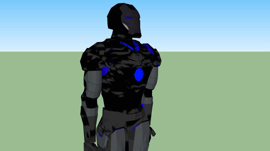 Black Steel Iron Man