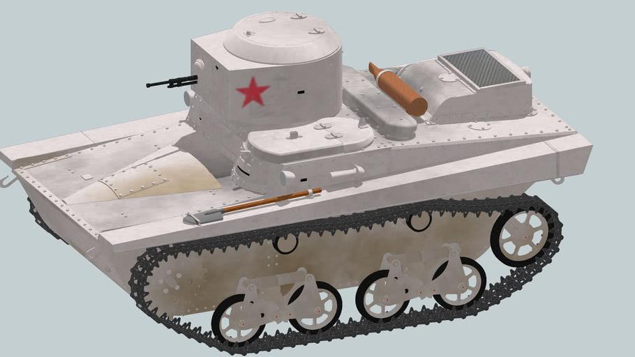 T37A  amphibious light tank,Winter War.