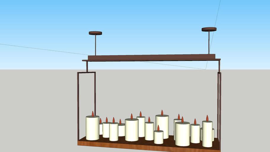 Luminária velas
