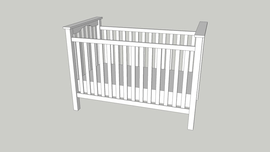 Kendall Low Profile Crib 3d Warehouse